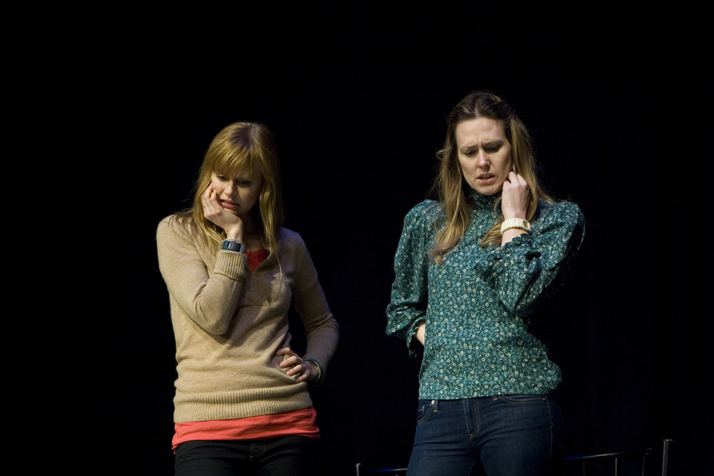 Janet Varney and Jessica Makinson at Theme Park Improv at SF Sketchfest, January 23, 2011. Photo by Tommy Lau.