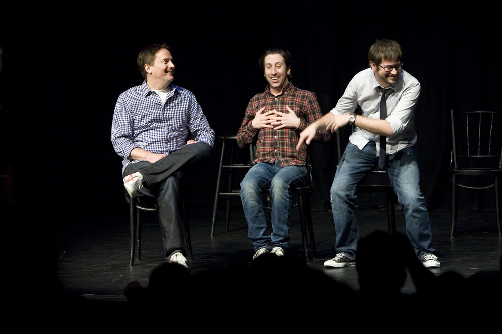 Michael Hitchcock, Simon Helberg and Cole Stratton at Theme Park Improv at SF Sketchfest, January 23, 2011. Photo by Tommy Lau.