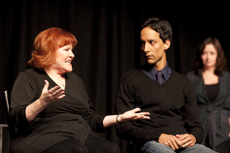 Edie McClurg and Danny Pudi at Theme Park Improv at SF Sketchfest, January 29, 2010. Photo by Ameen Belbahri.