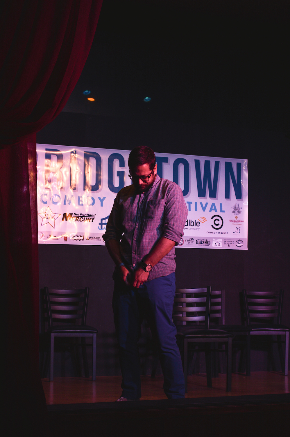 Cole Stratton at Theme Park at Bridgetown Comedy Festival, June 4, 2016. Photo by Deira Bowie.