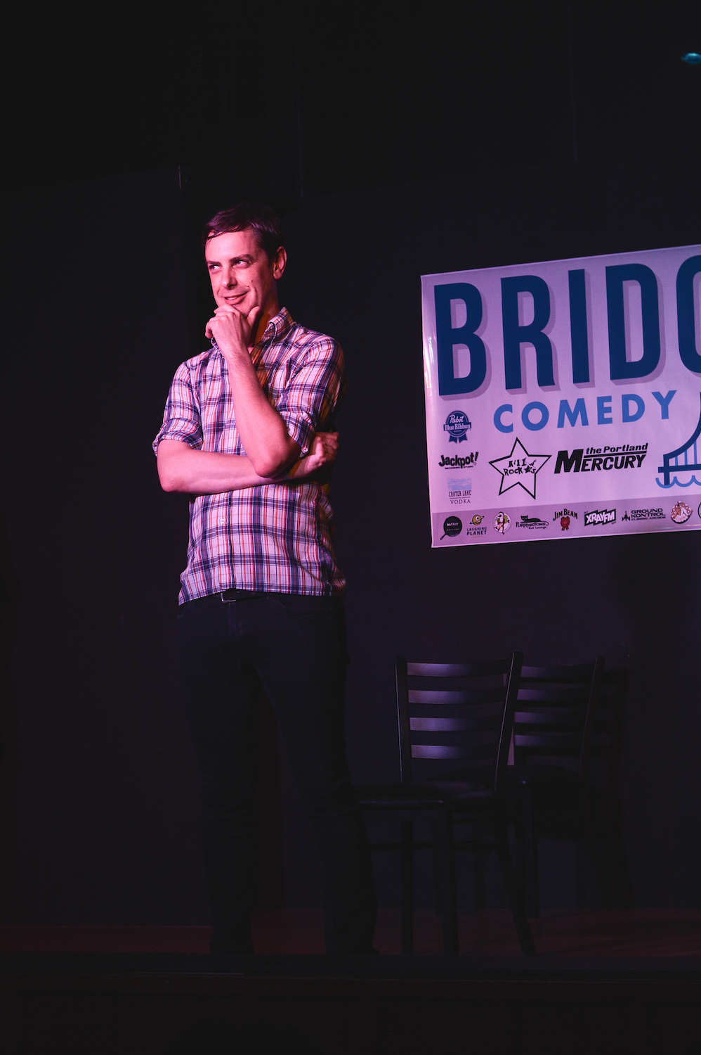 Guest monologist Hutch Harris at Theme Park at Bridgetown Comedy Festival, June 4, 2016. Photo by Deira Bowie.