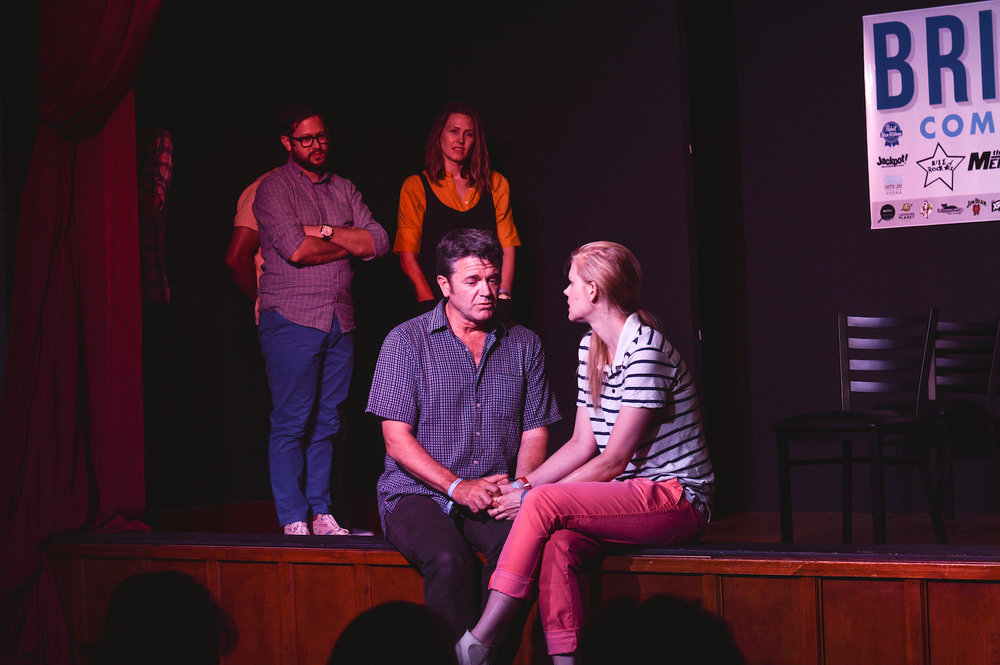 Cole Stratton, Jessica Makinson, John Michael Higgins and Janet Varney at Theme Park at Bridgetown Comedy Festival, June 4, 2016. Photo by Deira Bowie.