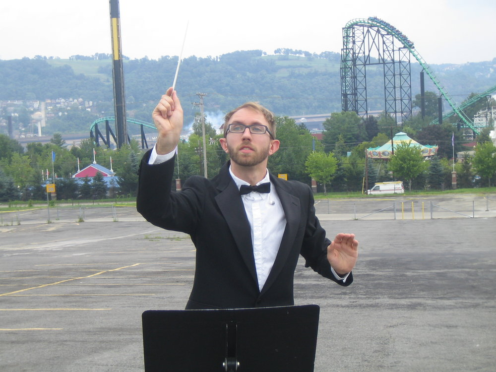 Nathan as Coaster Conductor. Photo: Rhona Byrne.