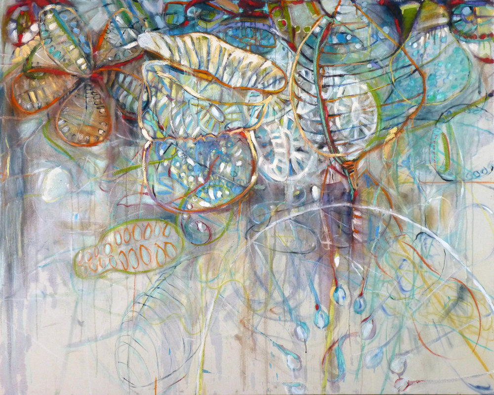 Creature Sweep 2, mixed media on canvas 48.0 x 60.0 in