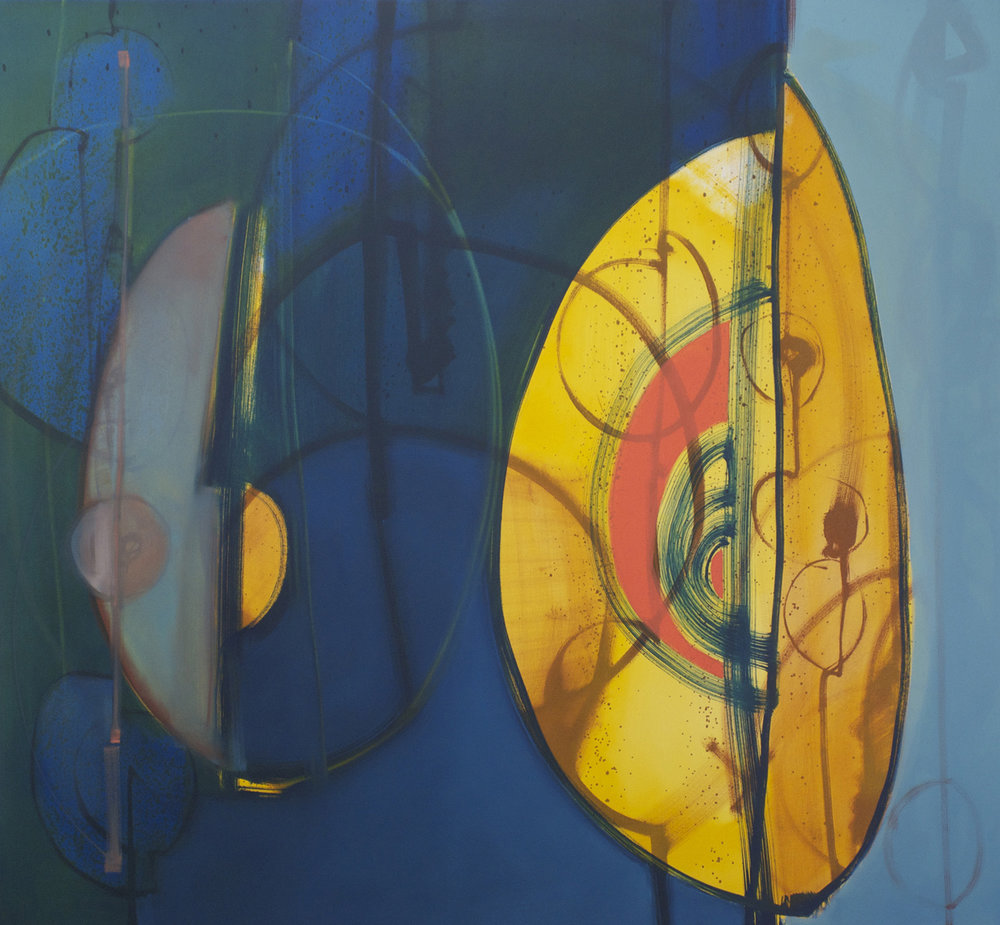 Verna Vogel, Augury #2, oil on canvas, 57 x 61 in.