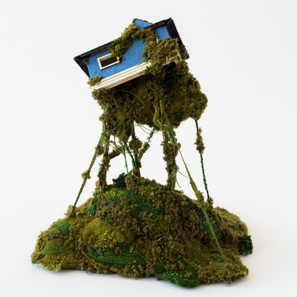 HEATHER CLOSE, Climb, mixed media sculpture, 10 x 8 x 7.5 in.