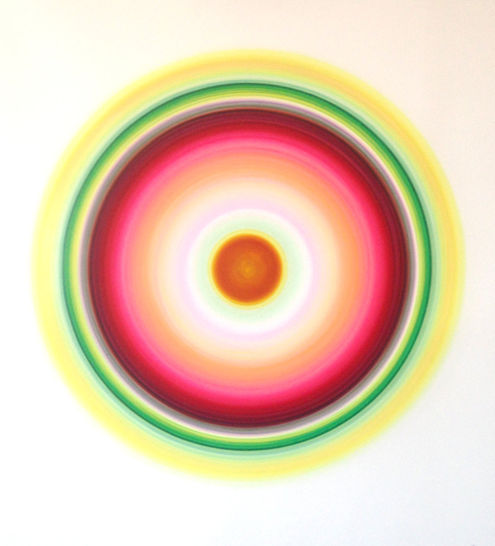 Ulrich Panzer , untitled (L-18-3), acrylic & ink on mylar, 42 x 38 in.