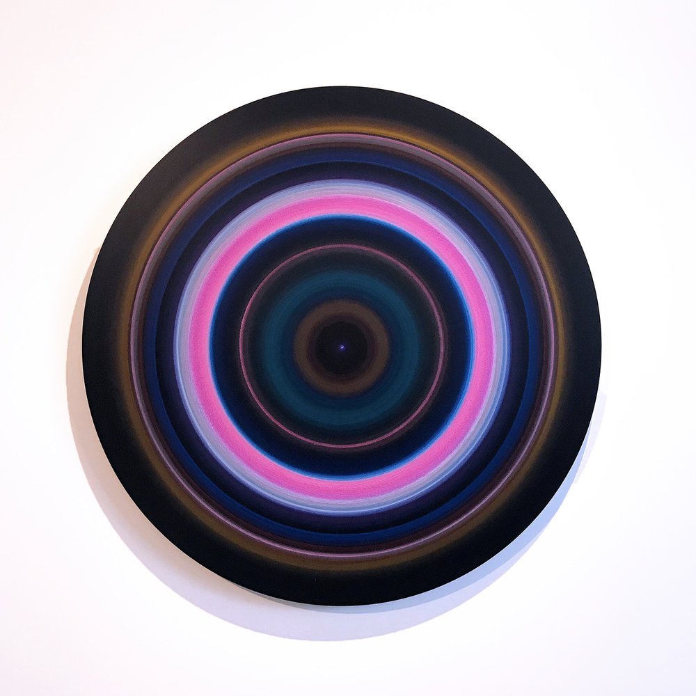 Ulrich Panzer, untitled (18-41-8), acrylic & ink on mylar, mounted on aluminum, 41 in. diameter