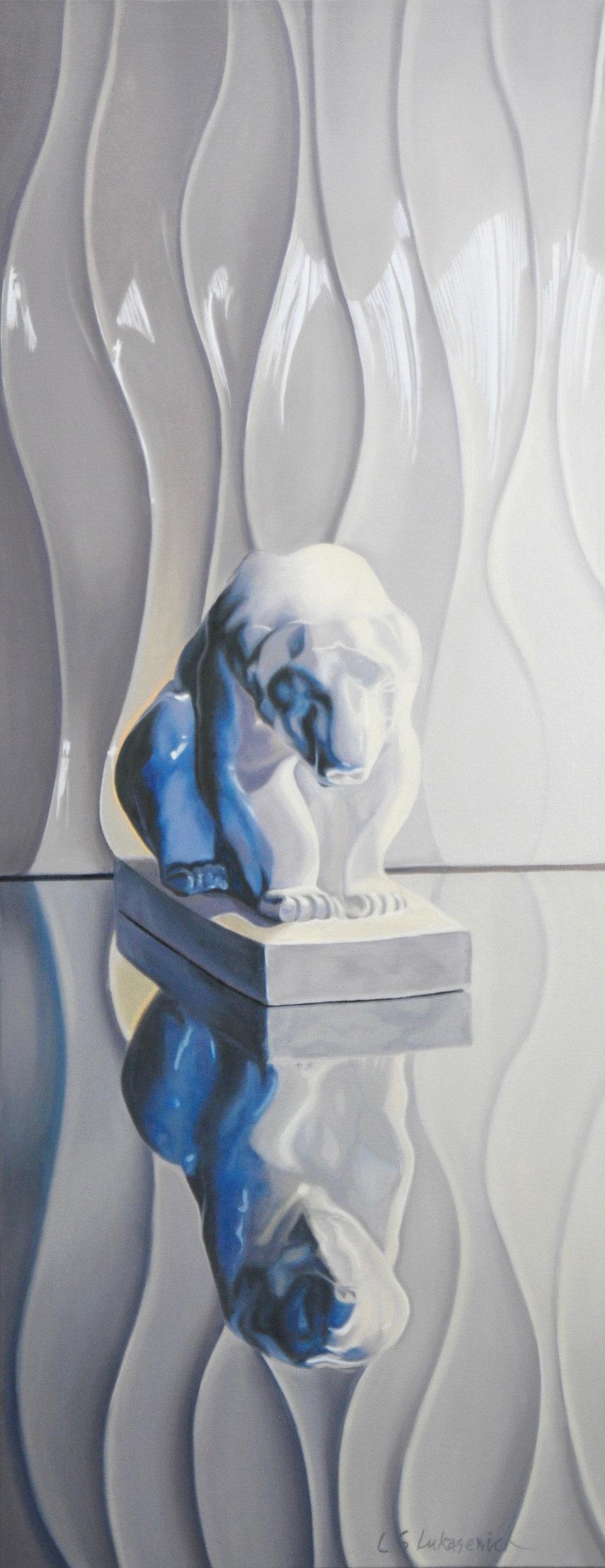 Polar Bear, oil & alkyd on canvas, 32 x 16 in.