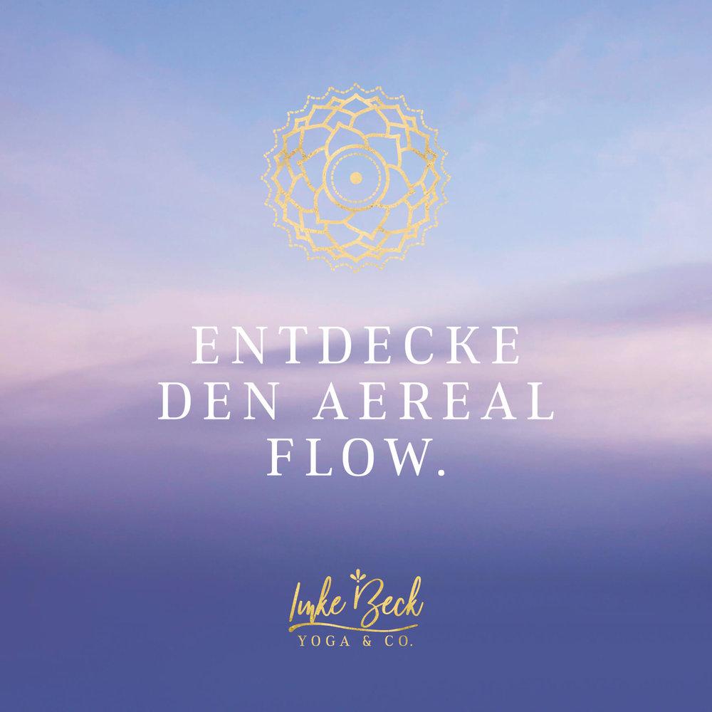 Flyer für Aereal Yoga – Designed by eimotiondesign.com