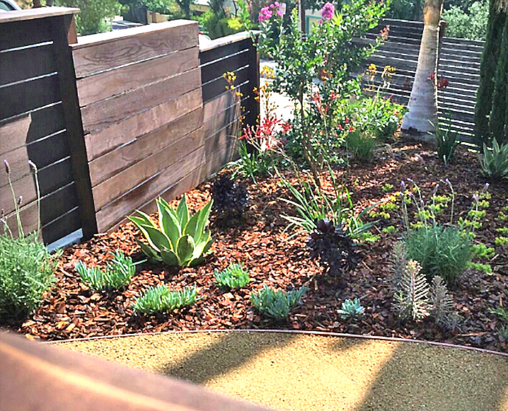 drought tolerant design w mulch_decomposed granite area_wood fence.jpg