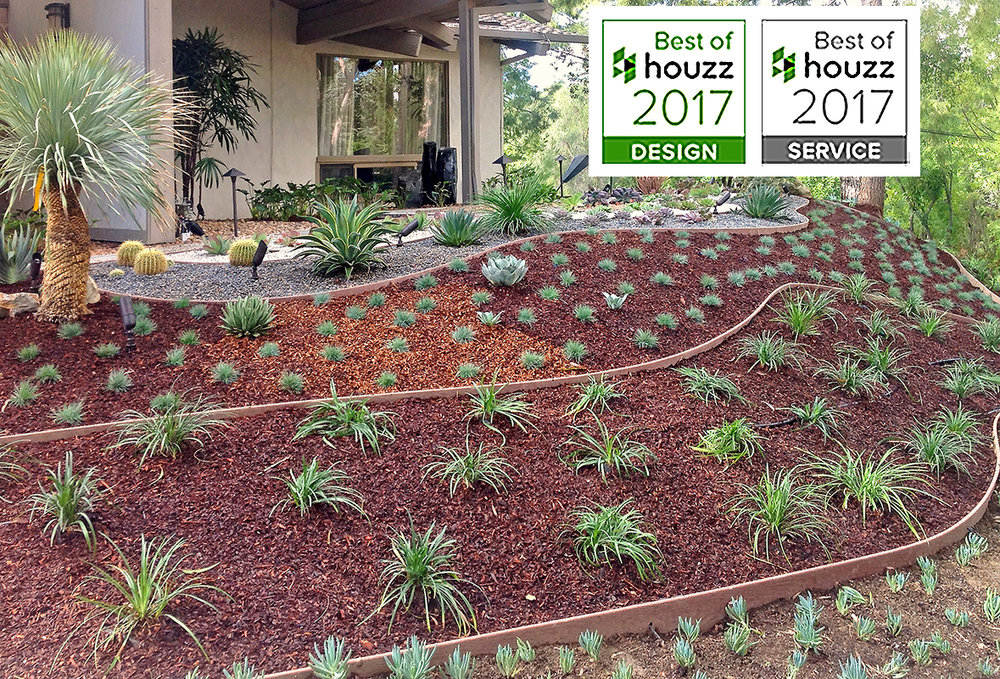 drought-tolerant-lanscape-cactus-succulent-low-moisture-plants-mulch-colored pebbles-gravel-river-rocks-SM-houzz-2017.jpg