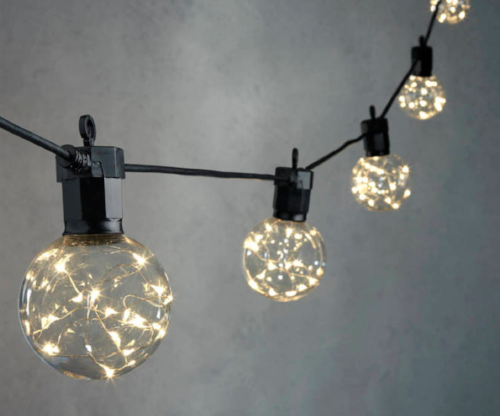 Celestial Globe String Lights - $27