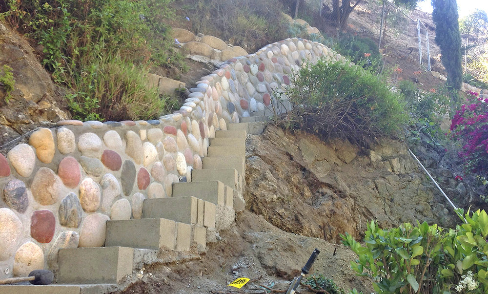 During this Extensive & Challenging Hillside Project in the Hollywood Hills