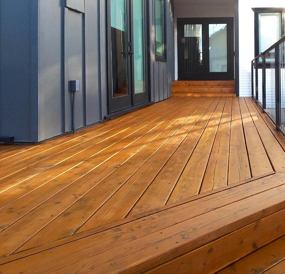Refinished Cedar Deck