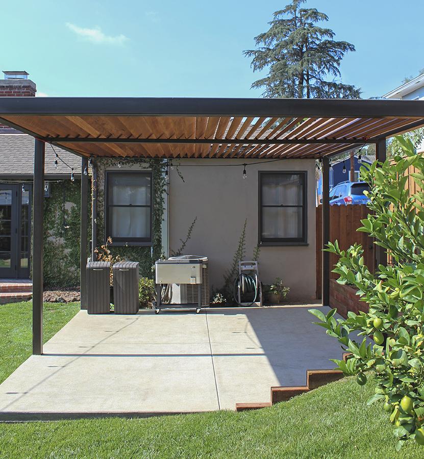 Steel & Redwood Pergola