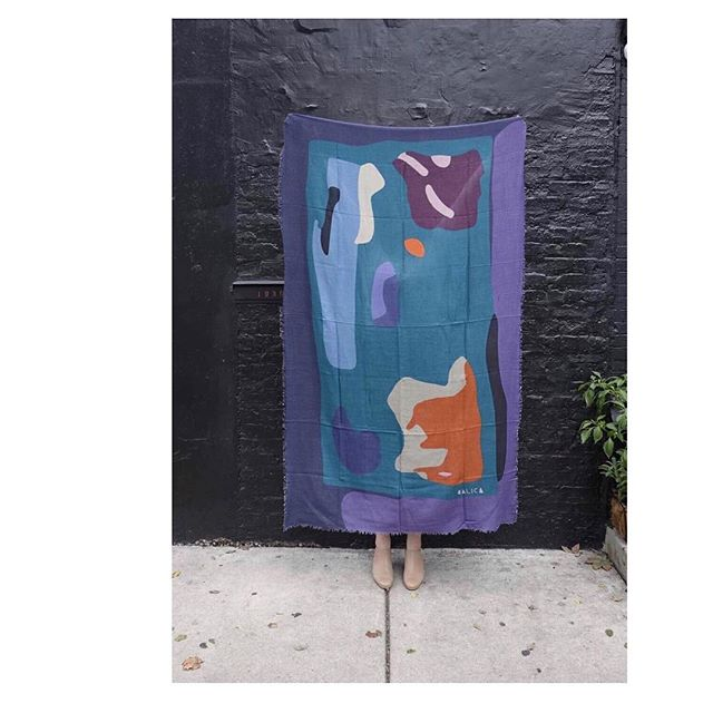 If you were in Chicago over the weekend you may have gotten a glimpse at the new work from @calicastudio. These punchy wool and cashmere scarves are bold and bright were a hit at @renegadecraft. They are coming soon to the Long Distance shop (as soon as the shipment arrives!) . . #textiles#renegadecraftfair