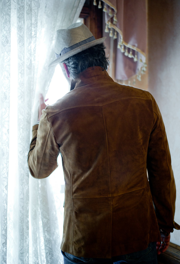 Suede leather Safari jacket