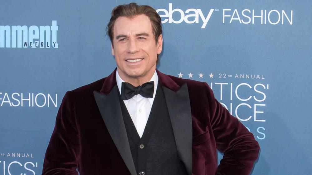 John Travolta wearing Matteo Perin at the Critics Choice Awards