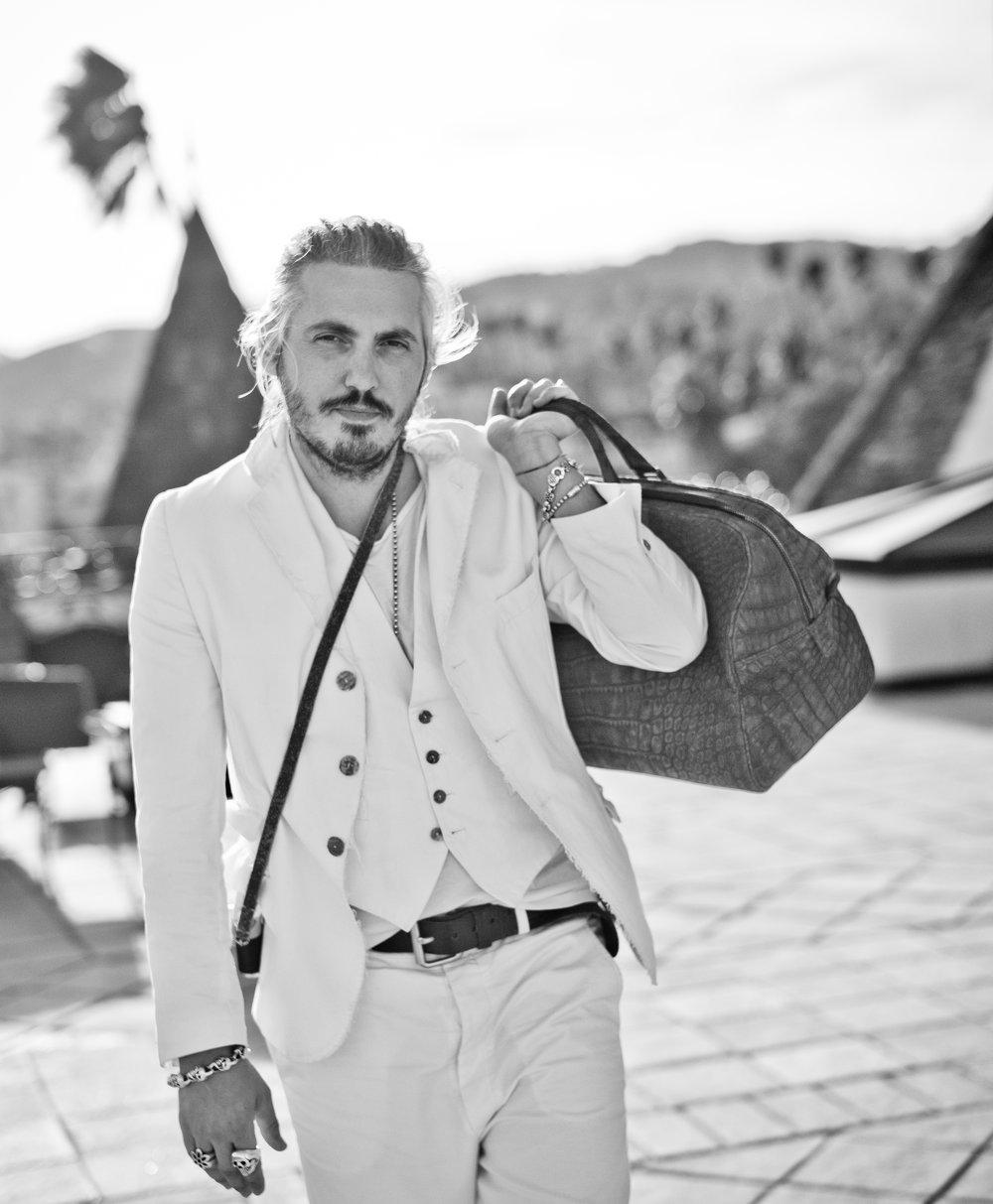 White cotton canvas, 3-piece suit