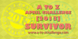 Click on image to visit A to Z Challenge 2013