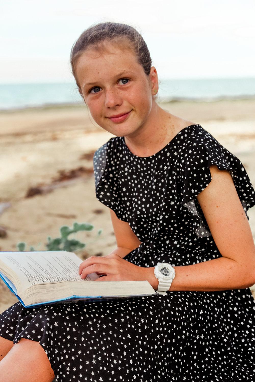 Beautiful bookworm Martha.