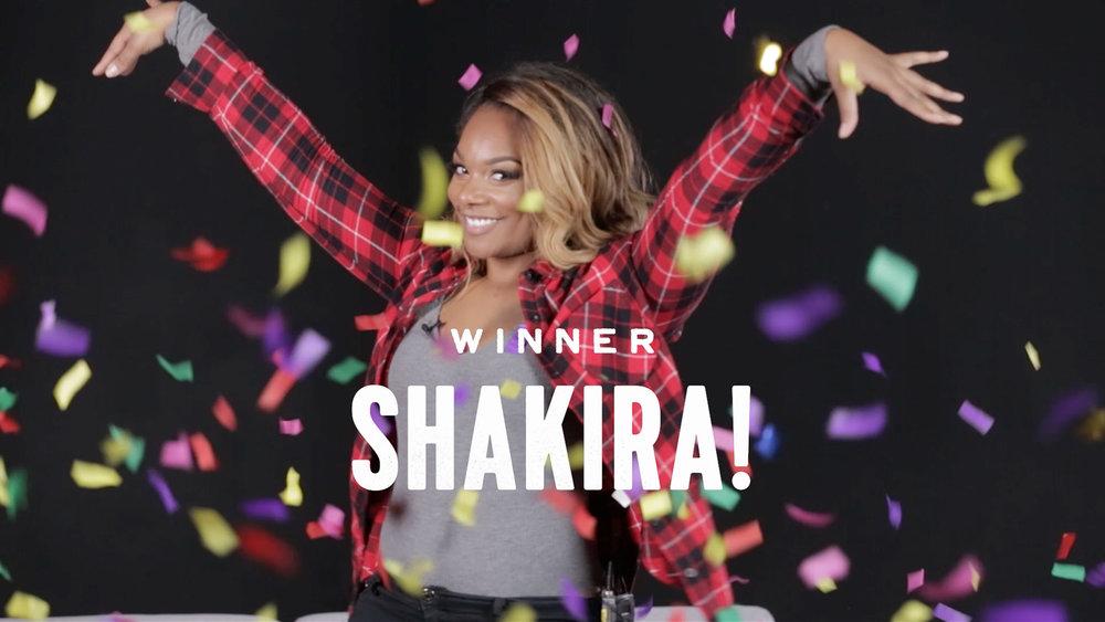 I just won $200, so yeah, I'm happy. - - Shakera