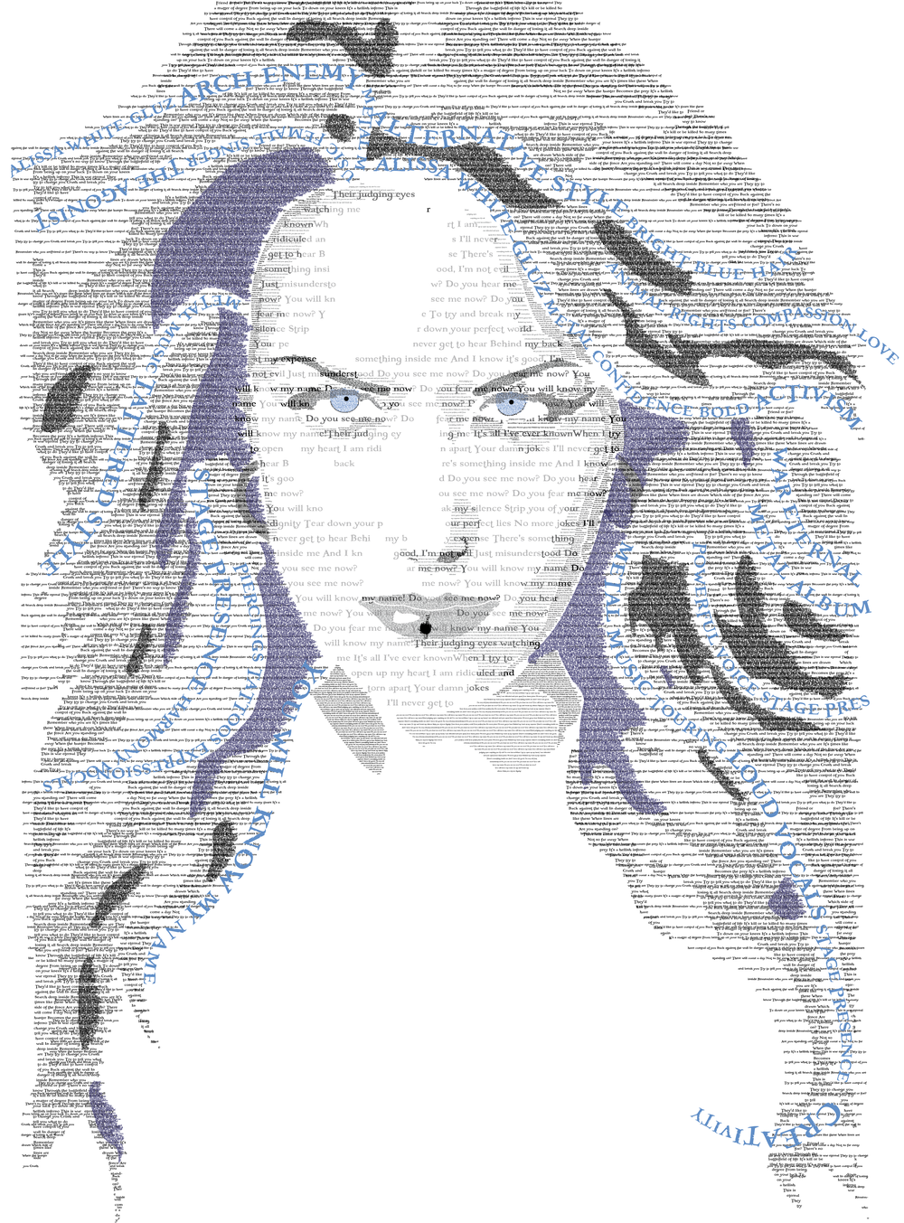Typographical portrait of Alissa White-Gluz
