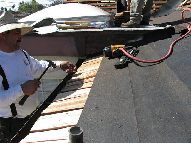 Roof Repairs - A thorough roof inspection often reveals if only repairs are needed.