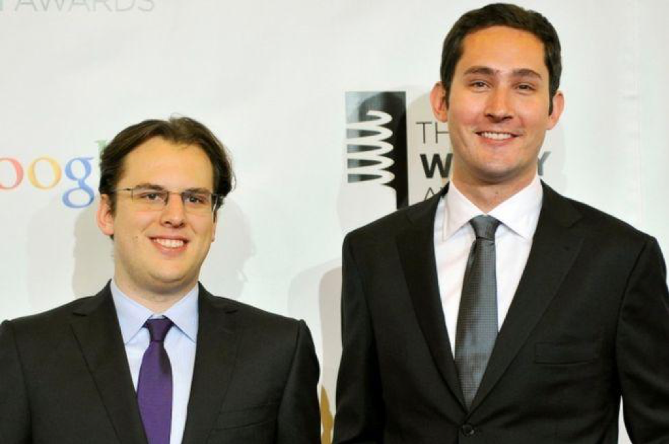 Mike Krieger (left) and Kevin Systrom (right), attend the Webby Awards in 2012 in New York