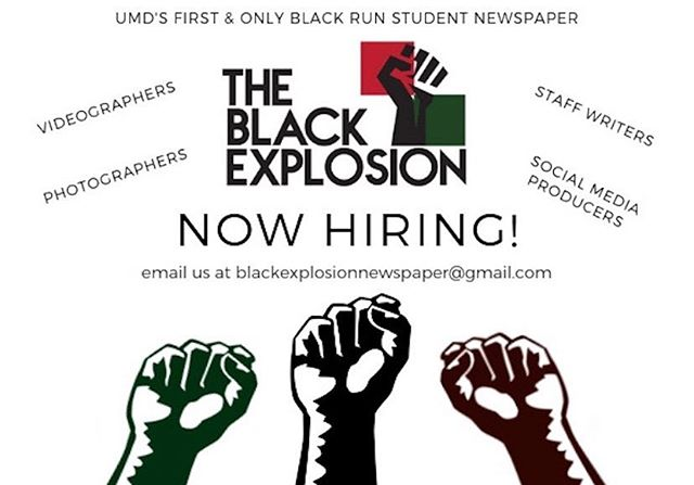 Are you interested in contributing to the only Black newspaper on campus! Bring your talent to the Black Explosion Newspaper! Link to apply is in our bio!