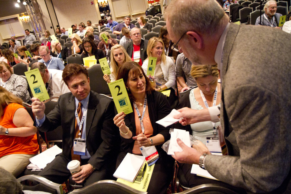 Frank Mottek, SPJ/LA's president in 2011, and Lauren were voting during that year's convention's business meeting.