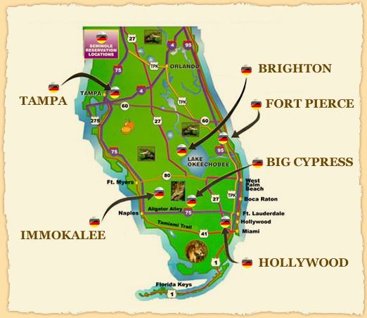 Seminole Reservations  Image source:  www.semtribe.com