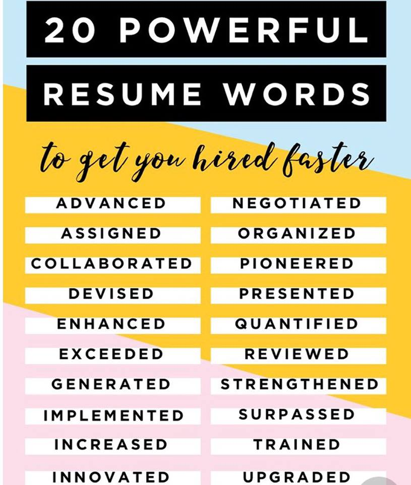 Resume Words to Get You Hired Faster — Sarah Collins