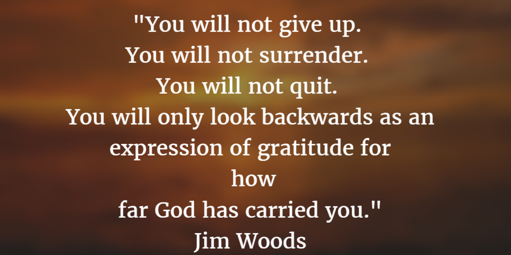 """Refuse to be """"Good enough."""" Jim Woods"""