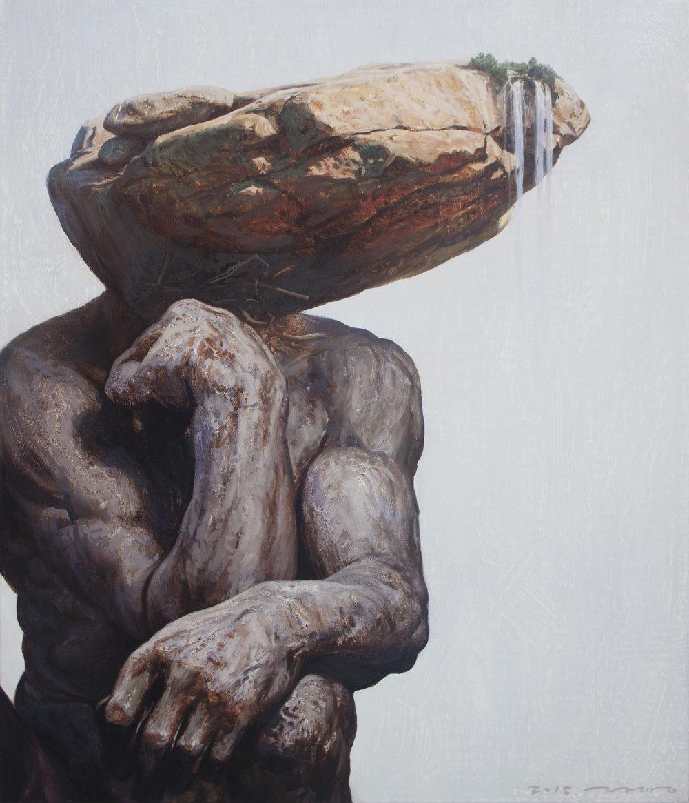 박정용_생각하는사람 53×45.5cm oil on canvas 2018_60