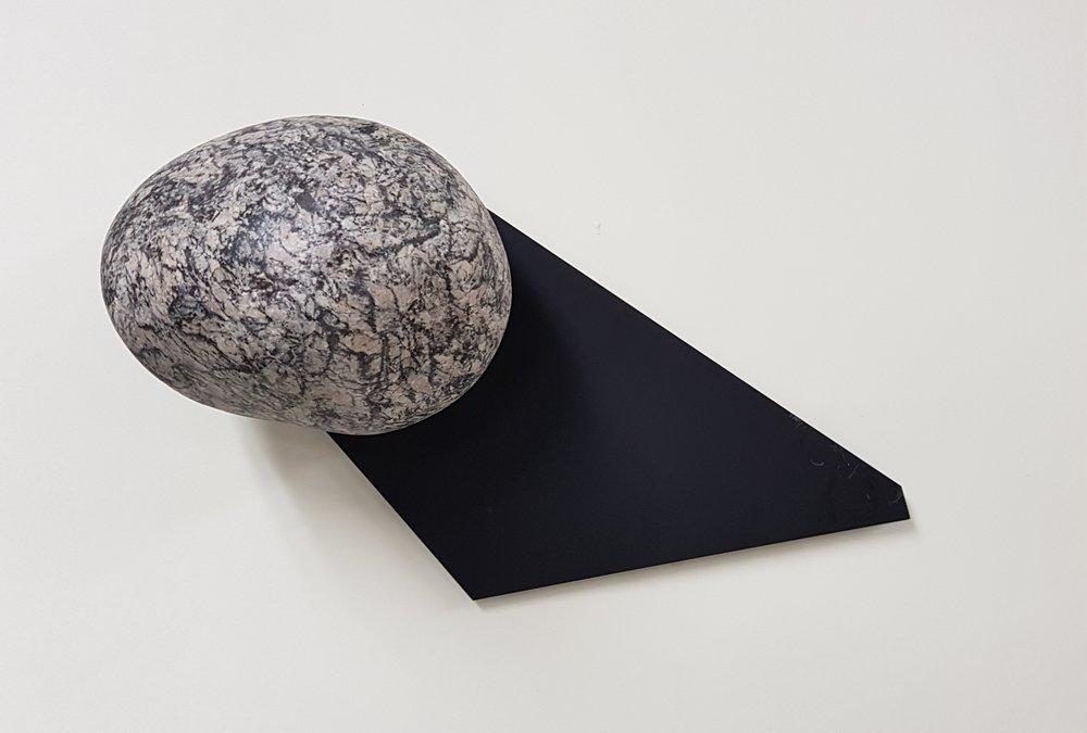 류정민_Ein Stein P.19, digital print, photo collage, metal board, 2018