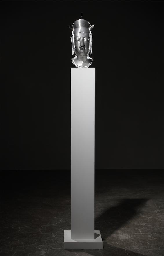 박승모_HEAD OF BANGASAYUSANG,2008,aluminum wire,lifecasting,31x18x18cm