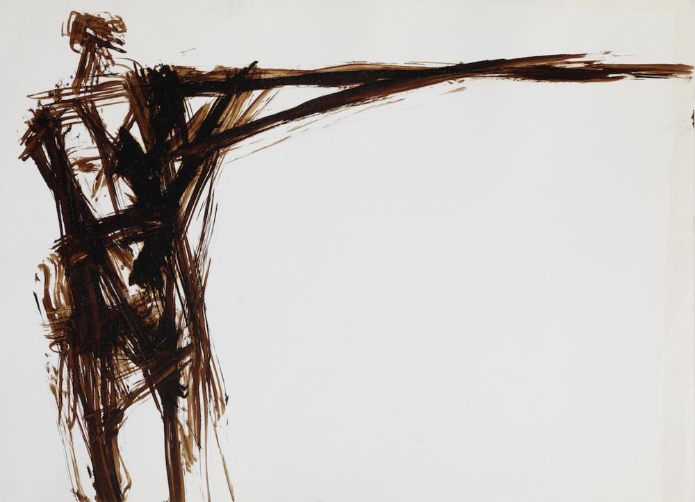 정현_무제,종이에 콜타르,39x54cm,1998