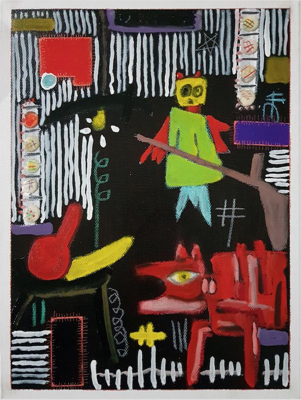 최울가_Black Series(Freem.S)_23x30.5cm_Oil on Canvas_2018
