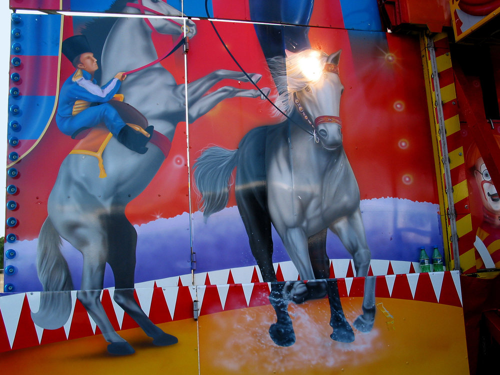 Blue horses, Easter Show, 2003
