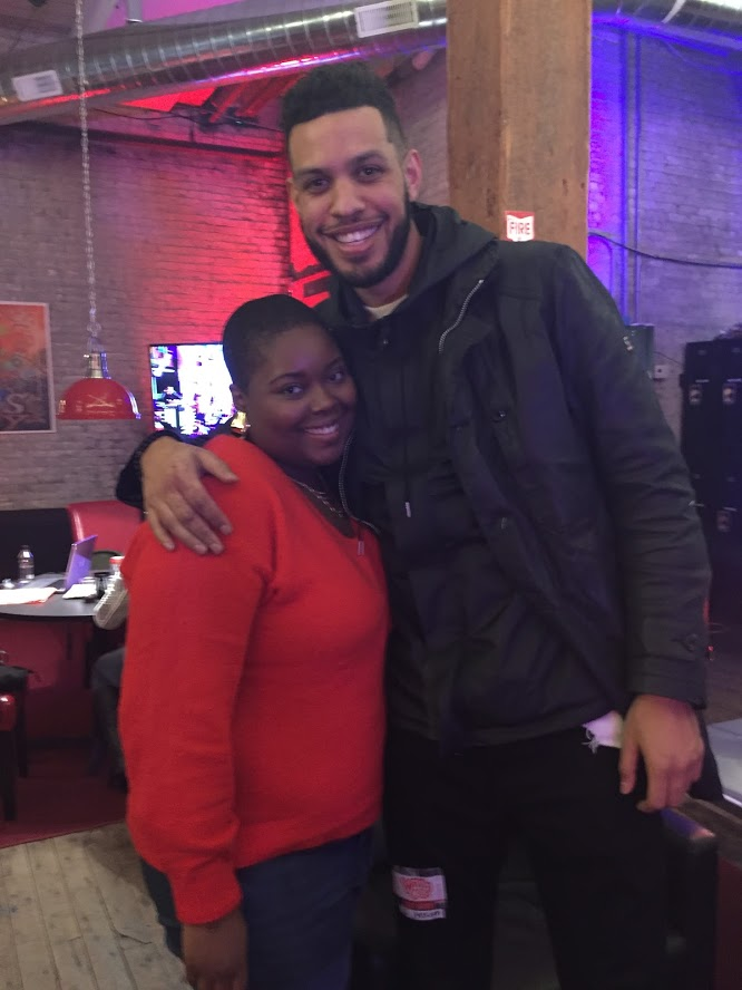 Me and Sarunas Jackson (aka Dro from Insecure)