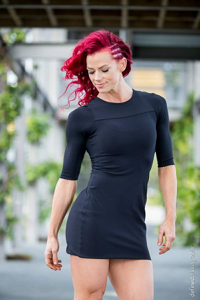 Raechelle Black dress looking down.jpg