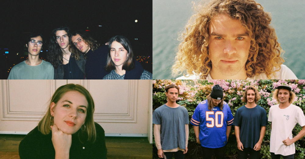 Clockwise from top left: Spacey Jane, Noah Dillon, Sly Withers and Tanaya Harper