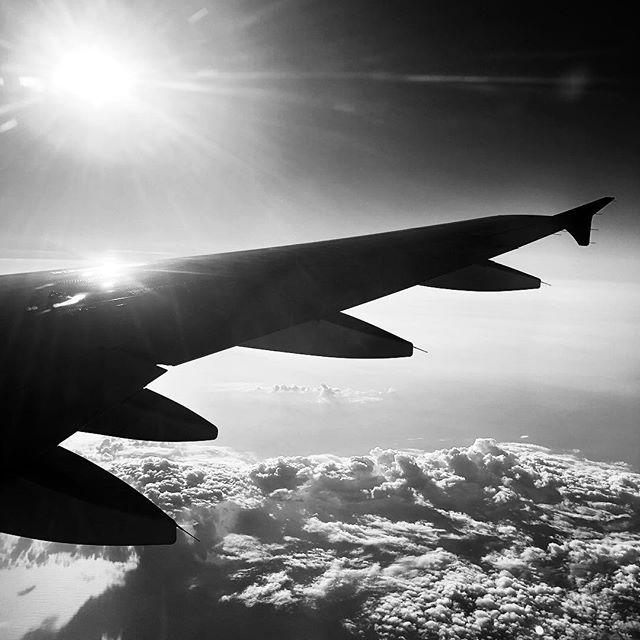 In Flight #bw #bnw #balckandwhite  #blackandwhitephotography  #黑白攝影 #白黒写真 #flight #airplane #fly
