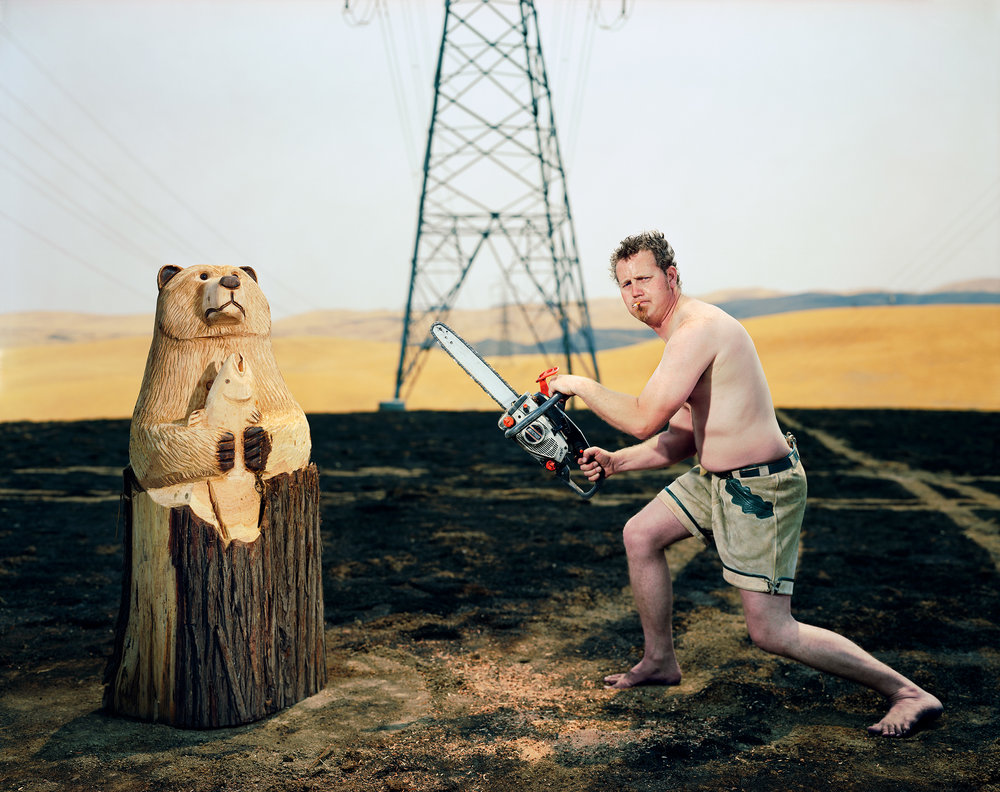 "Papa bear,   from the ""Lifestyles"" series. sRGB IEC611966 -2.1 ( Collection of the Artist ) 127.63 x 153.03 cm.(50 1/4 x 60 1/4 inch.)"