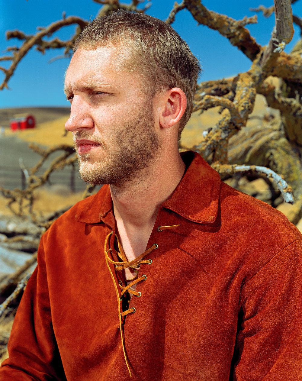 "Mikkel Sønafenlillepigemedsvovlstikker,   from the ""Autobahnüberfal, the Danes"" series. RGB 1998 ( Collezione dell'artista ) 51.43 x 61.59 cm. (20 1/4 x 24 1/4 inch.)"