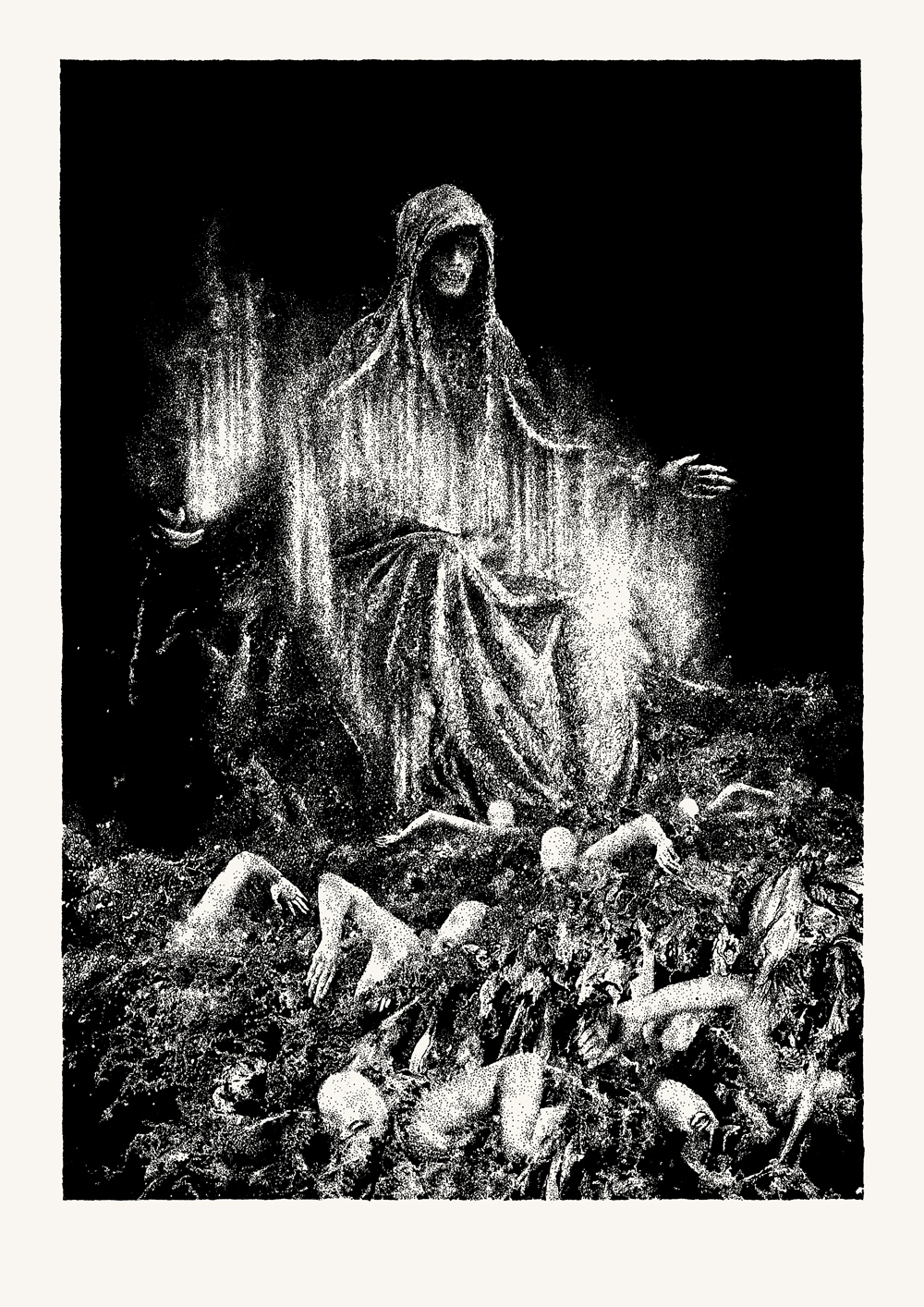 •  Pieta Della Sorte Avversa  (2018), ink on paper, 180 x 260 mm