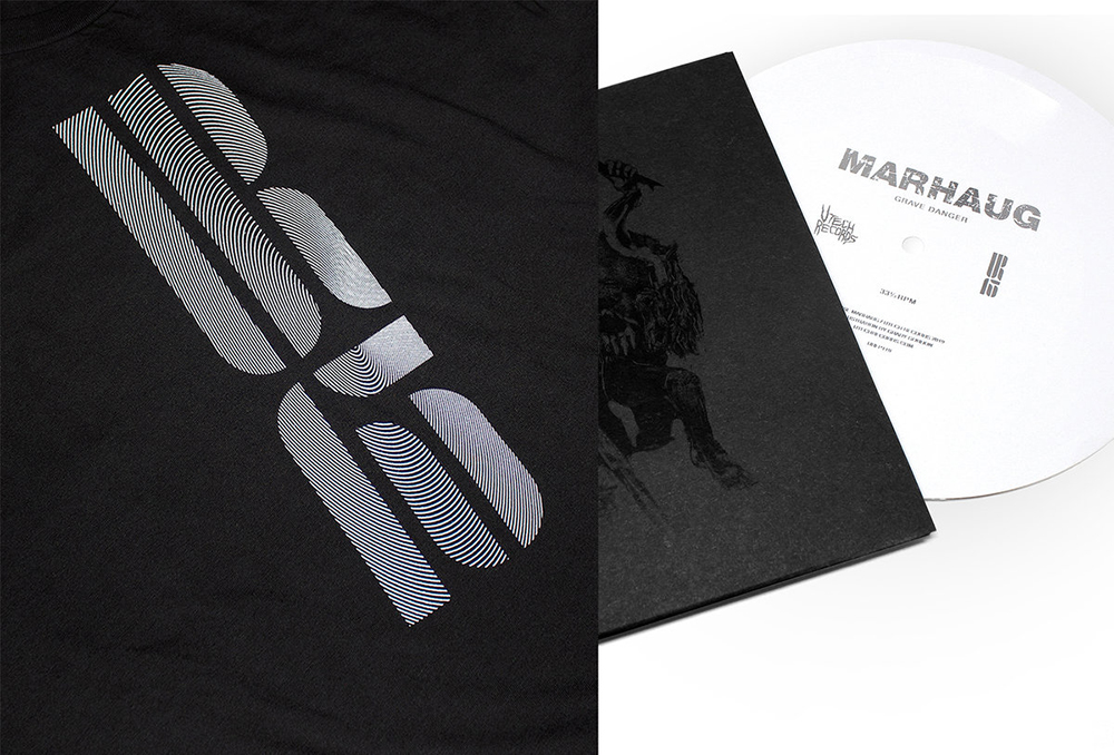 """•  UR15 Black T-shirt + Lasse Marhaug """"Grave Danger"""" Flexi"""