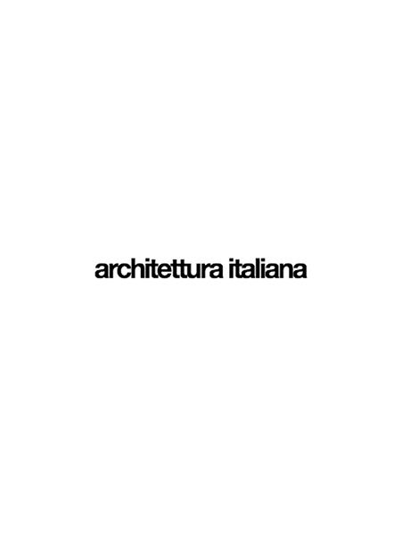 architettura italiana homepage